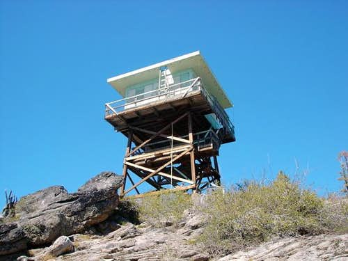 The fire lookout is unmanned...