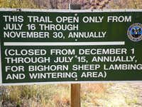 Seasonal Closure Info