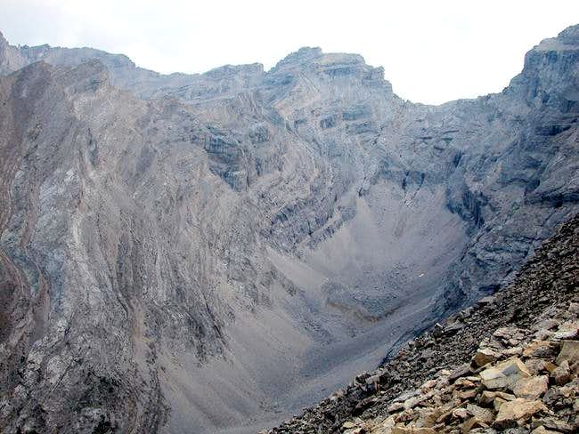 As you follow the ridge after...