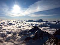 Aiguille d'Argentiere summit view