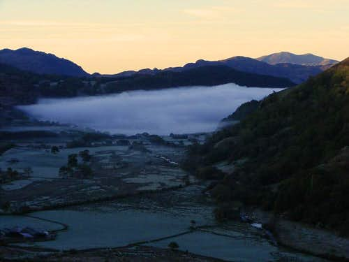 Dawn in the valley