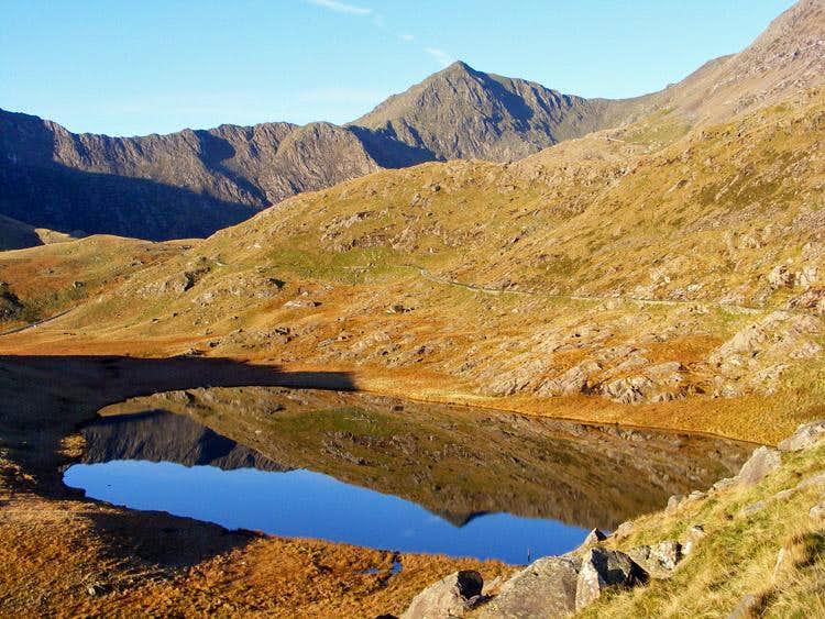 Snowdon reflected in Llyn Teryn