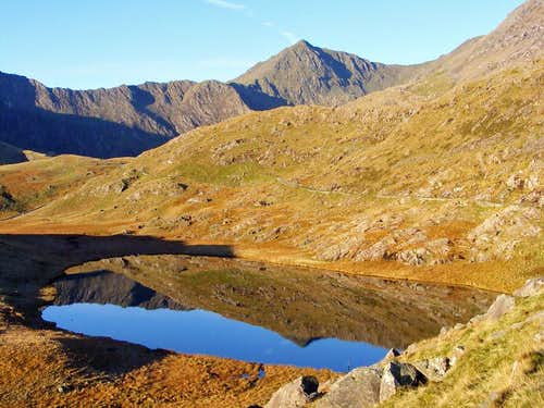 Snowdon reflected in Llyn Teryn