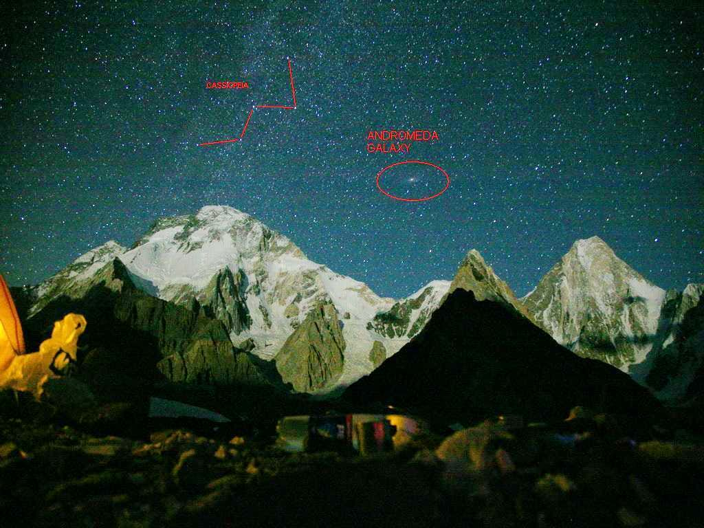 Annotated photos of the Himalaya, Karakorum, and sub-ranges