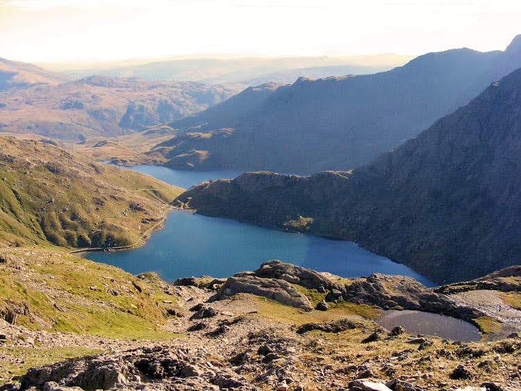 Glaslyn from Snowdon's Miners' Track