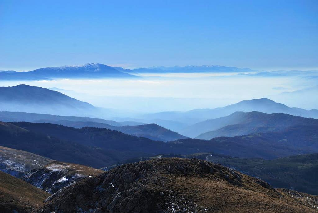 Stogovo: View to Ohrid's valley