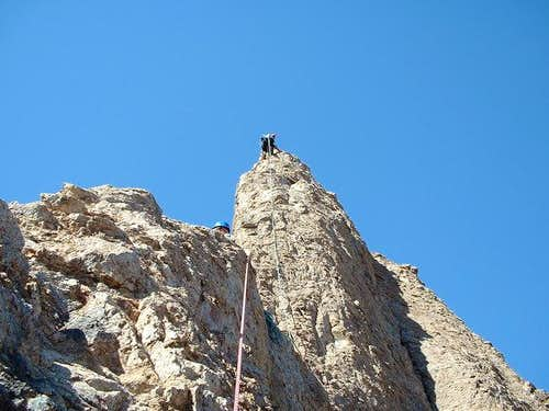 Approaching the second belay...