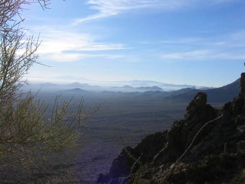 Looking south toward Tucson and beyond