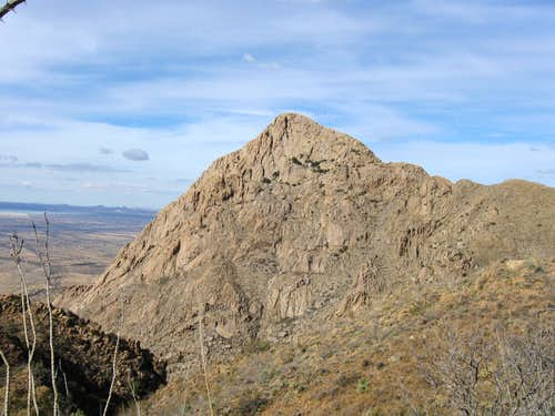 Elephant Head- view across Chino Canyon