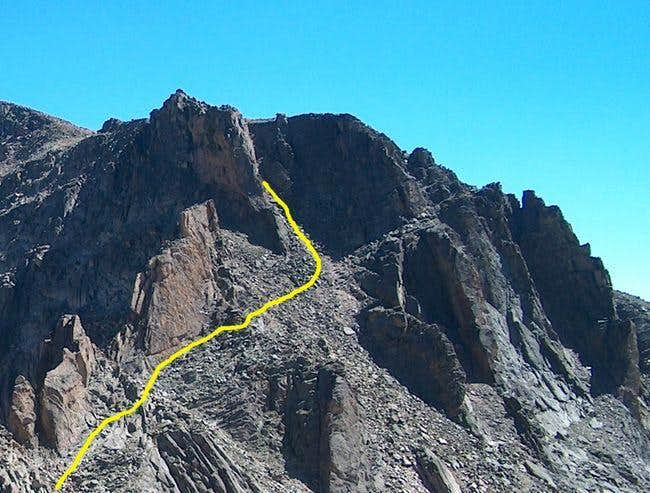 The Cliff Band along the NW Ridge