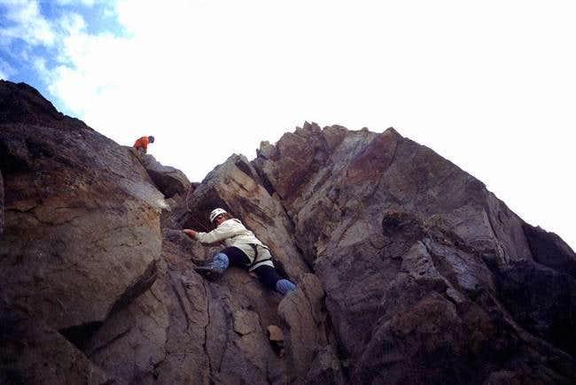 August 15, 2004. Climber...