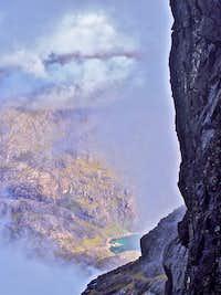 Loch na Leachd from the Cuillin Ridge