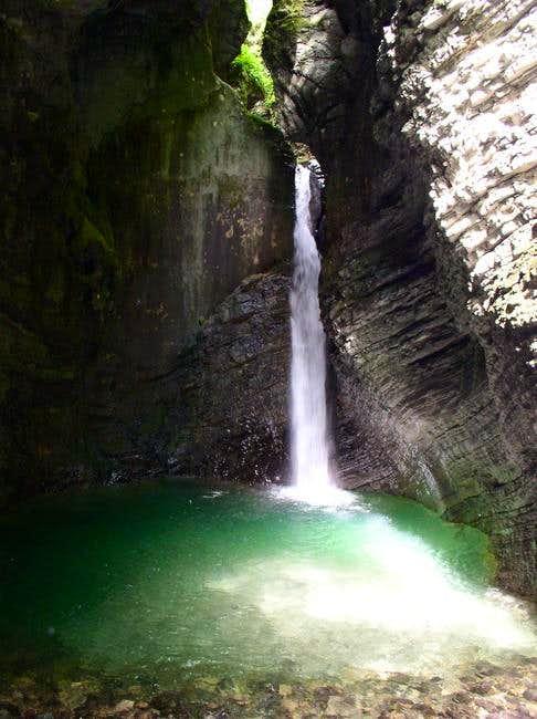 The Kozjak waterfall near Krn.