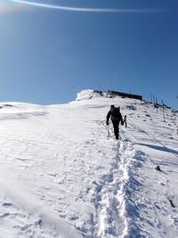 Right after the ridge, the final steps to the summit