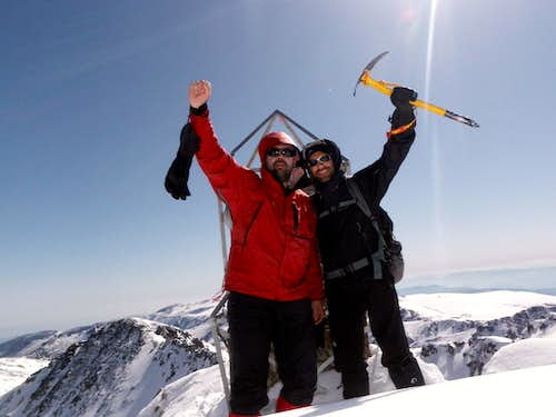 Me and Dimitris on the summit
