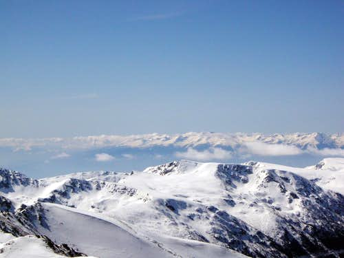 View from Musala summit, Greek mountains can be seen far away