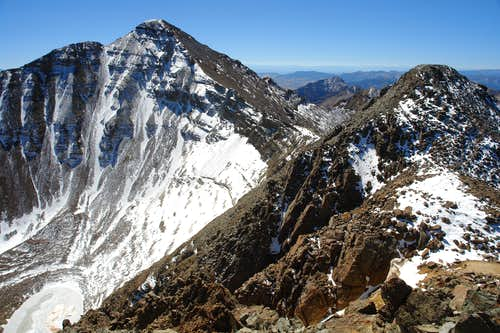 Castle Peak from the summit of Conundrum