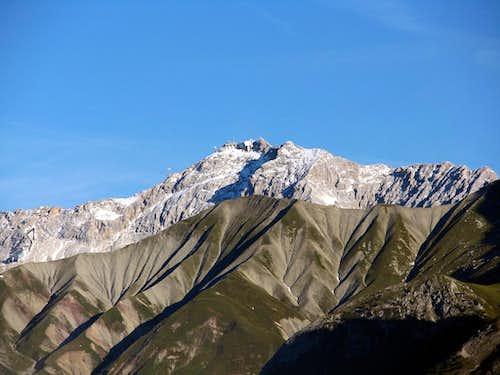 Uncommon view of Zugspitze