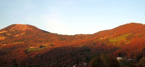 Gaisberg (1283m) and Gersberg in autumn color