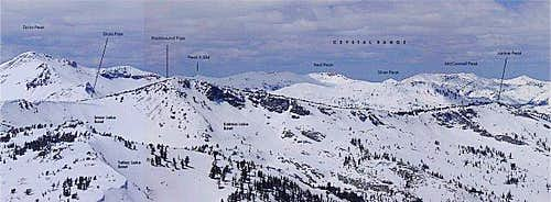 View NW from Mt. Tallac.