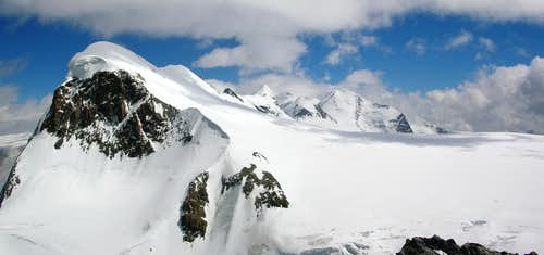 Breithorn and Monte Rosa