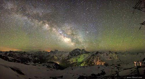 Caucasus... Milky way... Real Color of the Night.