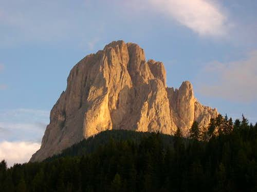 Sassolungo north face from...