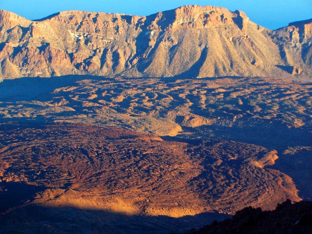 Las Cañadas del Teide at sunset