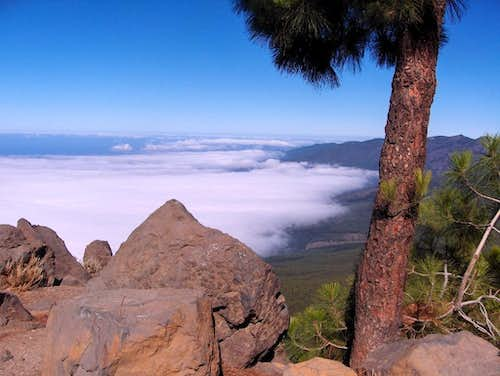 Cloud cover on the northern coastline of Tenerife