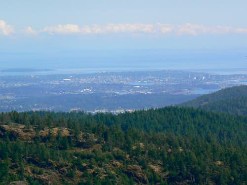 Downtown Victoria BC from Empress Mountain