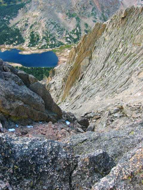 Looking from the summit down...