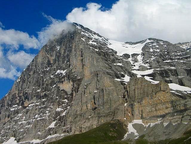 Eiger north face, from Kleine...