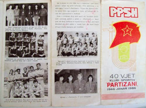 Partisani Anniversary Pamphlet 1986