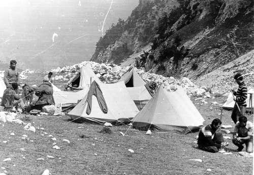 Albanian Alpine Federation in Thethi, 1970s