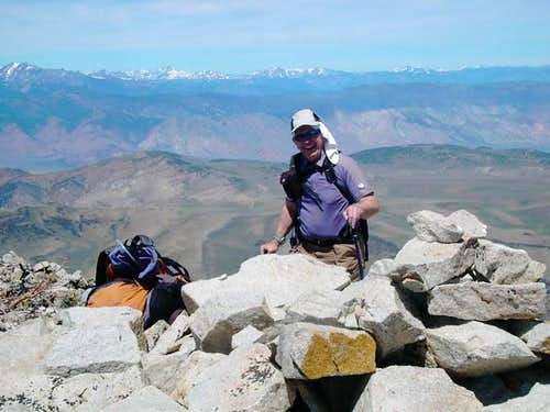 Dean on the summit 31 May 2004