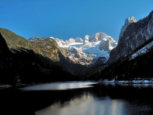 Dachstein and Lake Vorderer Gosausee