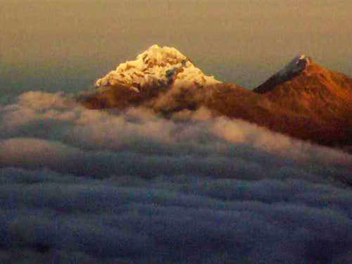 Illiniza Peaks in the Morning...