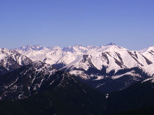 View from Osobita on Tatra Mountains