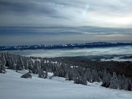 Winter scenery on Babia Gora