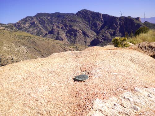 At the summit of Pusch Peak