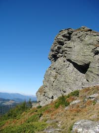 crag of Ignăteasa/Hnitessa summit