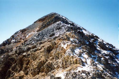 Diamond peak, summit ridge