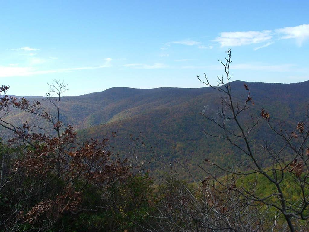 Looking West from Bluff Mountain