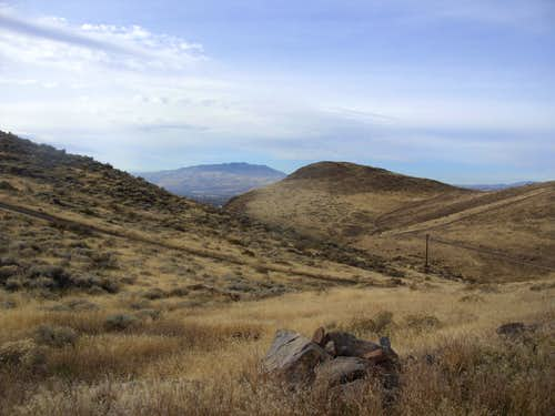 Looking west towards Peavine Peak