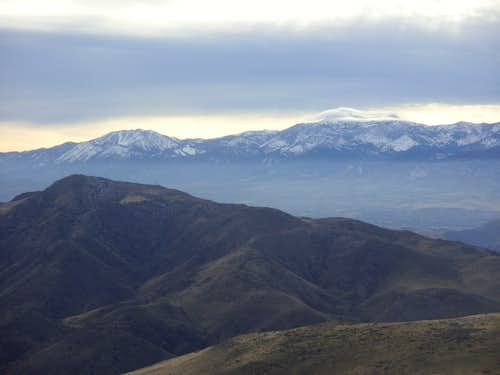 View southwest towards the Sierra Nevada Range from Peak 5954