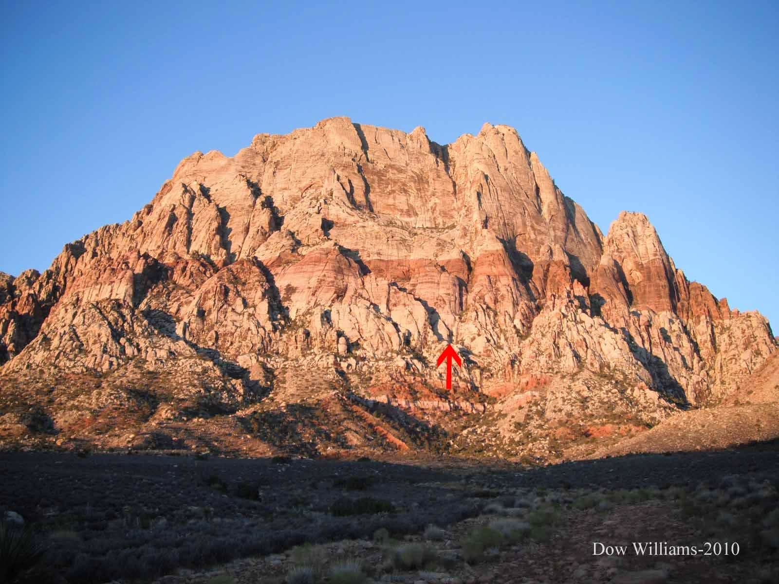 Pink Tornado Left, 5.9+, 8 Pitches