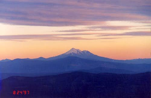 Mt. Shasta at sunset from the...