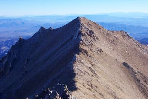 Boundary Peak viewed from the...