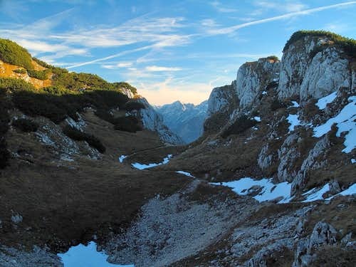 "A ""vallon"" between Stöhr hut and Berchtesgadener Hochthron summit"