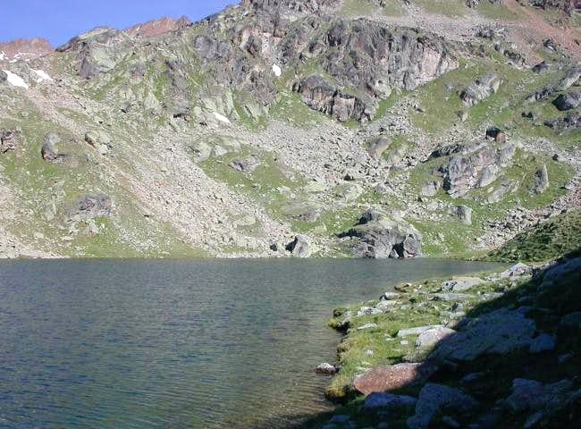 il lago di Lussert inferiore...